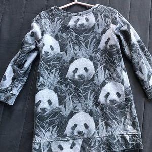 Panda sweatshirt tunic for little girl